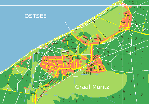graal müritz karte Fremdenverkehrsverein Graal Müritz   Gastgeber Details